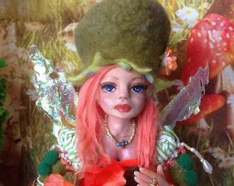 "Elfie"" Ooak Fairy doll/ ornament doll/ Art doll/ Handmade doll/ Fairy art doll/ gift doll"