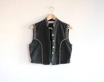 STUD - black studded vest