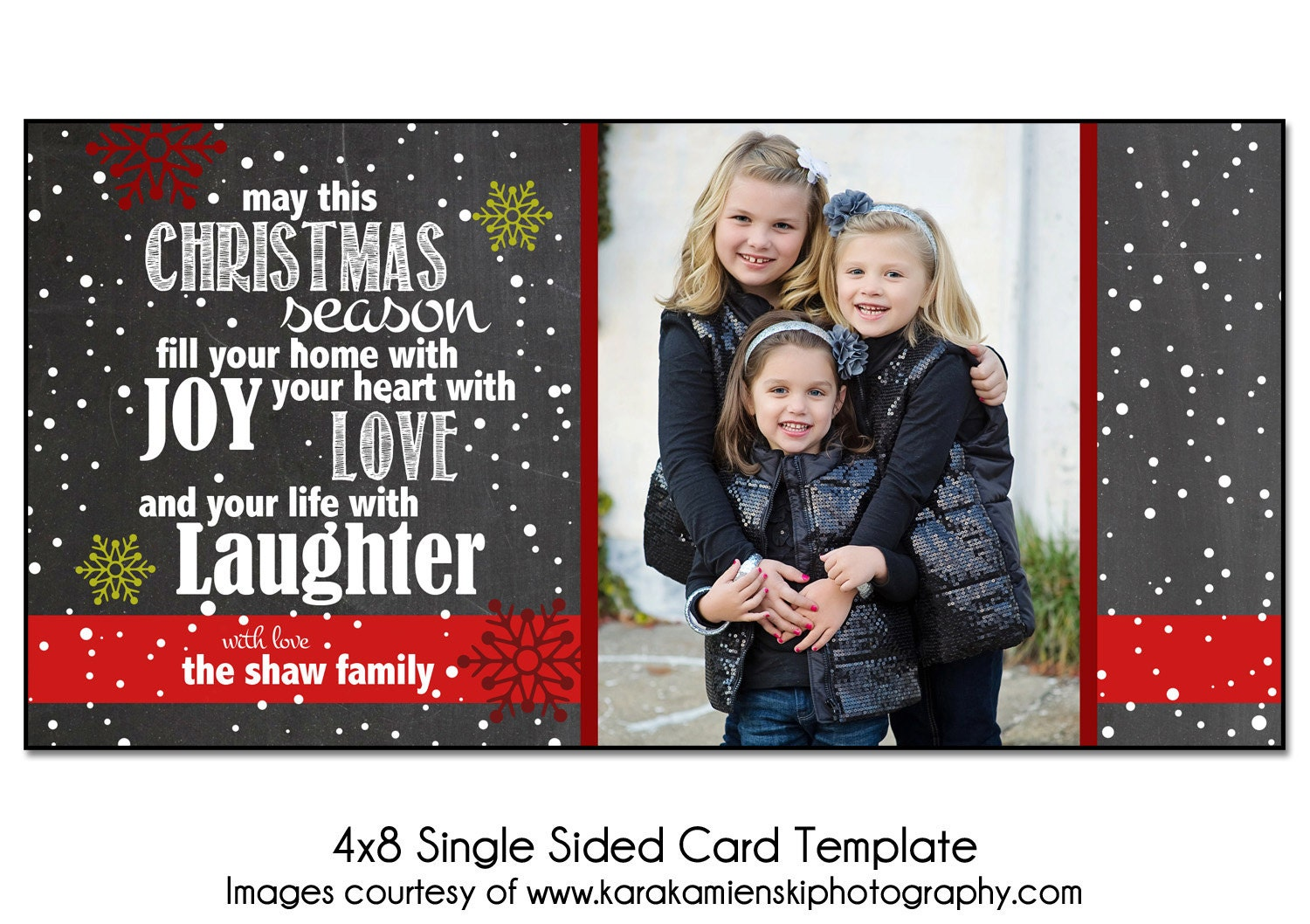 Photoshop Christmas Card Template Christmas Card Template By Vvad