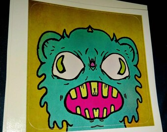 Screaming Bear Sticker