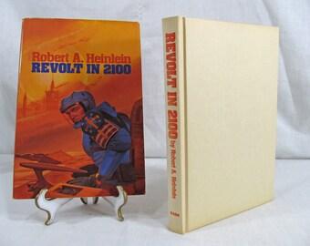 Revolt in 2100 by Robert A. Heinlein 1981 Baen Book Club Edition Hardcover w/Dust Jacket Science Fiction Novel Vintage Book