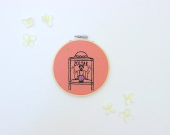 Zoltar Fortune Teller Embroidery Hoop