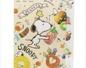Snoopy Pop Fruits A4 File Folder Organizer 5 Die Cut Index Price depends on order volume.