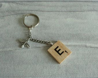 Personalised Bee key ring, Honey bee, Bee keeper gift, Housewarming, Monogram Initial key chain, Save the bees, Worker bee,  Bumble Bee gift