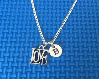 love necklace ,Jewelry, Silver Jewelry, love jewelry, gift for someone special, valentine gift CP3