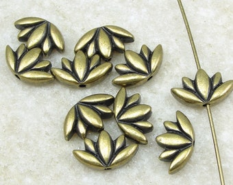 Antique Brass Lotus Beads Brass Lotus Flower Beads by TierraCast Yoga Beads for Meditation Jewelry Bronze Beads for Jewelry Making P2445