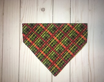 Fall Dog Bandana, Over the Collar Dog Bandana, Pet Bandana, Dog Bandana