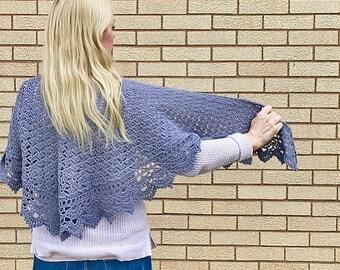 Serenity Shawl, Crocheted Shawl
