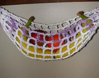 Banana Hammock, Fruit Hanger, Holder, Net, Purple Lilac Variegated