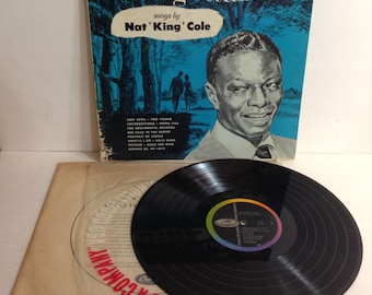 Nat King Cole Unforgettable Songs By Nat King Cole Vintage Vinyl Record Album lp 1958 Capitol Records T 357 High Fidelity Recording