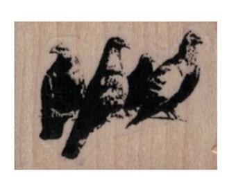 rubber stamp Banksy Pigeons   no19967 scrapbooking supplies graffiti art artist