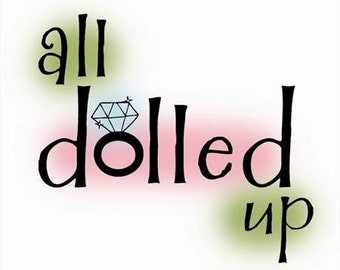 All Dolled Up Stamp - Imaginisce - Rubber Acrylic Stamp