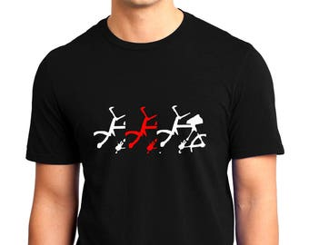 Bicycle in Motion T-shirt Mann Kurzarm
