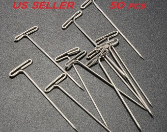 """50pcs Stainless Steel T Pin Great for DIY Crafts 1 1/2"""" Length US SELLER"""