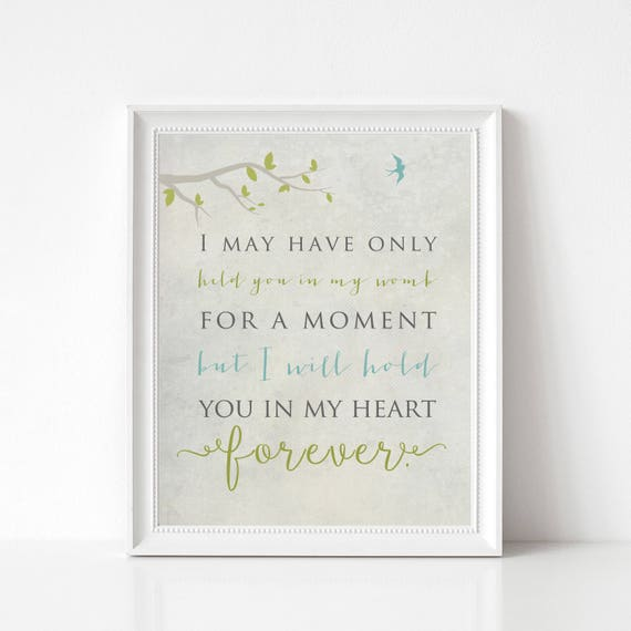 In Memory of Baby Family Print - Infant Loss, Death of Loved One, Miscarriage - I May Have Only Held You for a Moment
