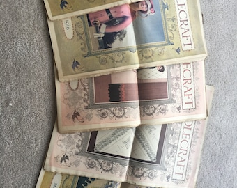 Lot of 5 Antique Needlecraft Magazines. May 1918. April 1918. January 1918. June 1918. December 1919
