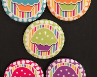 "1.25"" Button Magnets - Muffins"