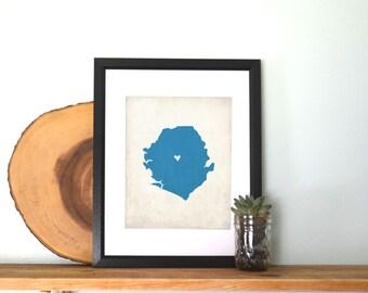 Sierra Leon Personalized Country Custom Map Art 8x10 Print