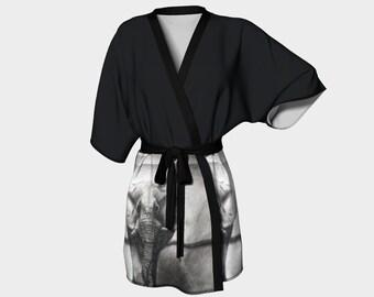 The Benevolent Elephant - Kimono Robe