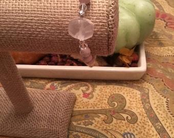 Crystal, gemstone, beaded bracelet