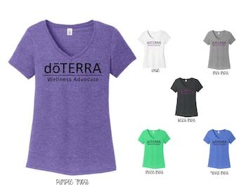 DoTerra Compliance Approved Glitter Vneck, doterra Glitter vneck, Doterra shirt