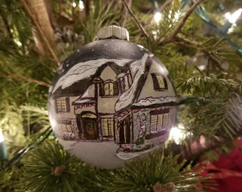 Hand Painted Ornament of Your Home