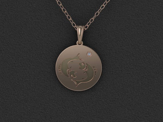 Custom Order necklace, Zodiac Jewelry, Zodiac Necklace, Rose Gold Jewelry