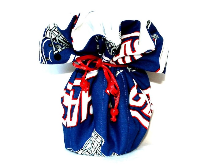 NEW YORK GIANTS Fabric Jewelry Organizer ~ Pouch ~ Storage Case ~ Bag ~ Tote - Bell Art Designs ~ Large ~ JBLG62