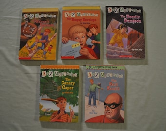 Group of 5 - A to Z Mysteries - B/C/D/E/F - by Ron Roy - Lot