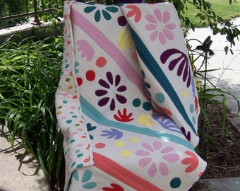 Bohemian Garden Hand Quilted Jersey Knit Crib, Toddler, Lap Quilt
