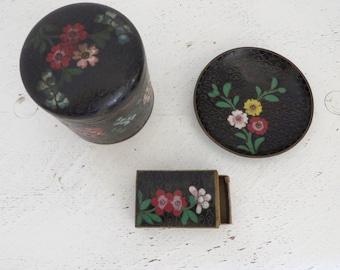 Antique/Vintage Cloisonne Pieces Three Pieces