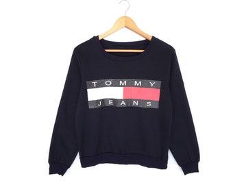 Tommy Jeans Big Logo Spellout Pullover Jumper Sweatshirt