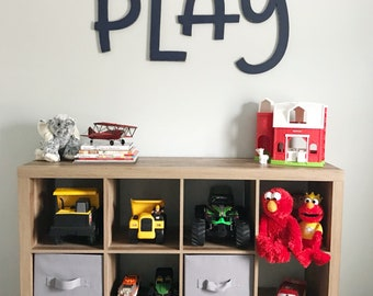 Playroom wood letters, play wooden letters, fun playroom decor, large play letters, playroom sign, kids room letters