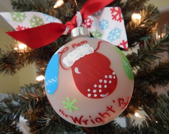Cozy Mittens Family Christmas Ornament-Personalized-Names-Family Name