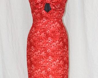 Swirled Variegated Peek-a-boo Dress