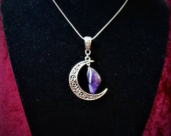 Fairy Necklace: in the Moon (genuine Amethyst.)