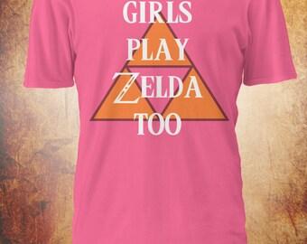 Girls Play Zelda Too Tshirt - Legend of Zelda