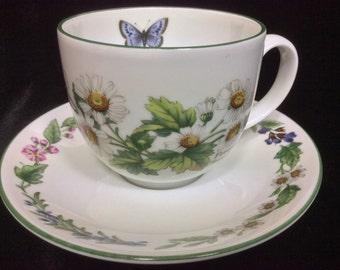 Royal Worcester Herbs Vintage Teacup & Saucer Set, Botanical Cup Saucer Set, Gift For Her