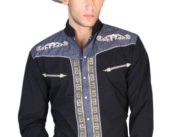Denim shirt M/long General 65 Polyester 35 cotton ID 122306 CW6N Black