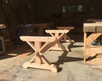 Farmhouse Triple Trestle Table DIY Kit