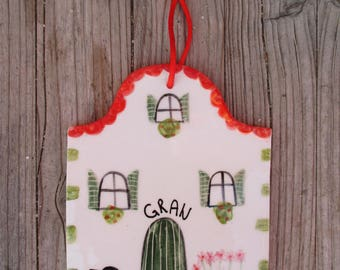 Ready to ship,Gran Home Sign,Cute House Tile,Gift for Gran,Housewarming Gift,Ceramic Wall Decor,Gran Home sign,Welcome Tile,Cute gift,Gran