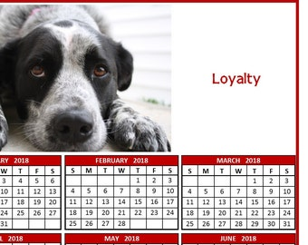 Pepper The Dog Loyalty - 2018 Calendar Poster