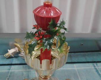 Vintage Electric Christmas Plastic  Light