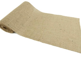 Burlap Table Runner 12 inches Wide 10 Feet Long Premium Quality 10oz Burlap