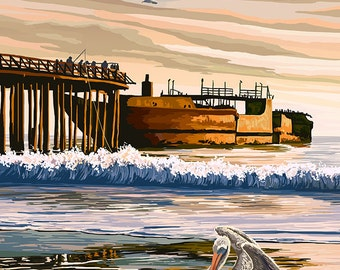 Seacliff State Beach, California Coast (Art Prints available in multiple sizes)