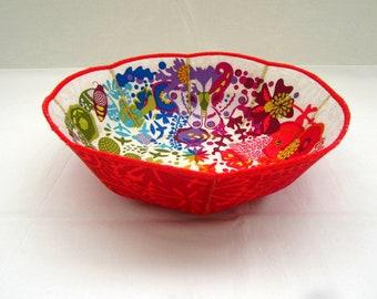 Colorwheel Moths fabric mini bowl rainbow magenta purple turquoise ochre butterflies Marimekko Onieka