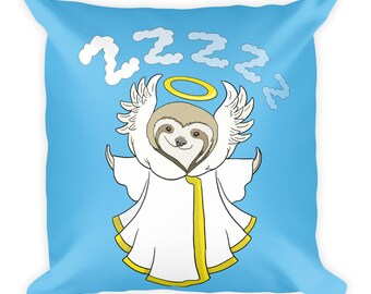 Angel of Sloth Square Pillow