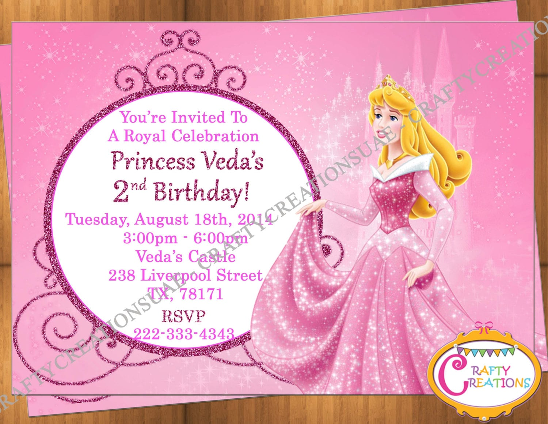 Princess Aurora Invitation Princess Aurora Birthday
