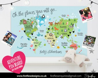 Personalised Children's Travel Map Board