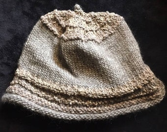 Hand-Knit Natural Hat